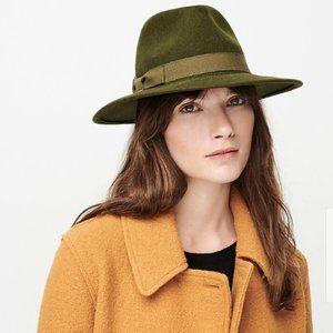 Western hat fedora with grosgrain trim M/L